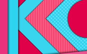 Обои круг, геометрия, текстура, розовый, material, color, линии, малиновый, vector, design