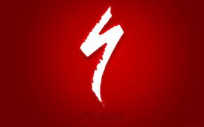Обои specialized, логотип, спеш, style, logo, mtb, cycle, bike, bicycle, велосипед, велоспорт, red, стиль, минимализм