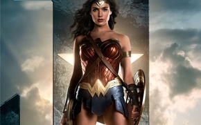 Обои cinema, film, yuusha, armor, Diana, god, shield, demigod, movie, Justice League, Wonder Woman, hero, DC ...