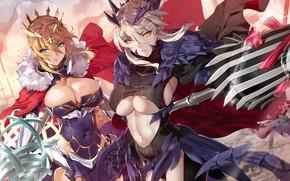 Картинка armor, weapon, big, umbrella, anime, pretty, manga, oppai, strong, sugoi, bishojo, kyojin, japonese, Fate Grand …