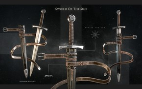 Обои dark knight sword, ножны, меч, Sword of the Sun, оружие