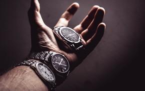 Обои часы, время, рука