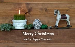Картинка свечи, Новый Год, Рождество, шишки, merry christmas, decoration, xmas, holiday celebration