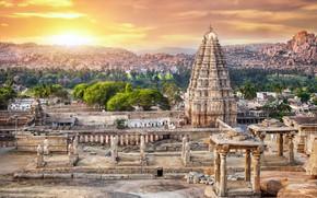 Картинка пейзаж, Индия, храм, древность