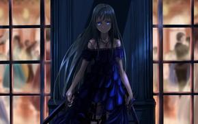 Картинка взгляд, девушка, ночь