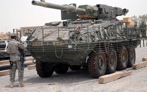 Картинка US Army, armored, armored vehicle, armed forces, M1128 Stryker MGS, Styker