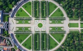 Картинка парк, Германия, панорама, Баден-Вюртемберг, Шветцингенский дворец