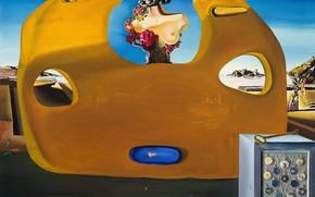 Картинка сюрреализм, картина, Сальвадор Дали, Salvador Dali, Память о Женщине-Ребенке