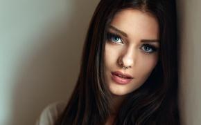Картинка взгляд, волосы, пирсинг, Veronika