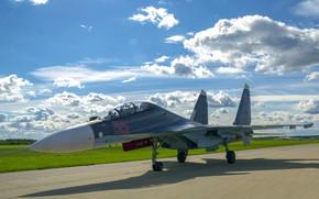 Обои Su-30SM, истребитель, Sukhoi, многоцелевой