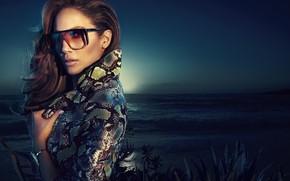 Обои очки, Jennifer Lopez, певица, знаменитость