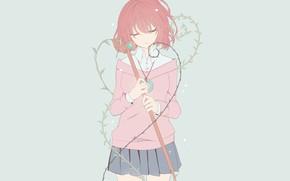 Картинка девушка, аниме, арт, Mahou Tsukai no Yome, Невеста чародея, Hatori Chise