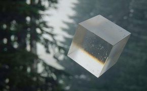 Картинка лес, куб, Mountain mist, mark chang