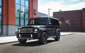 Обои Mercedes, Brick, G63, AMG, Black
