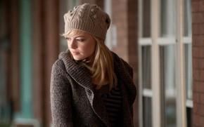 Обои Девушка, Блондинка, Шапка, Girl, Волосы, Актриса, Кино, Фильм, Фантастика, Beauty, Marvel, Blonde, Красивая, Emma Stone, ...