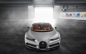 Обои Bugatti, Turbo, Silver, VAG, W16, Sight, Chiron