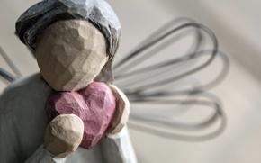 Картинка макро, сердце, статуэтка