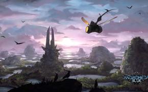 Картинка птицы, сооружение, аппарат, Environment, Andromeda Blue