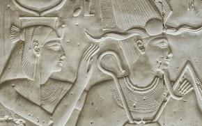 Обои древность, стена, Abydos