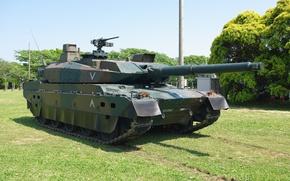 Картинка Japan, weapon, asian, tank, oriental, asiatic, Japanese, machine gun, Type 10, Mitsubishi Heavy Industries, Nippon, …