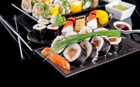 Картинка рыба, рис, суши, роллы, лосось
