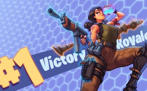 Обои Fortnite, victory royale, Battle Royale, Epic