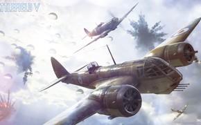 Картинка воздушный бой, Supermarine Seafire, Battlefield 5, Battlefield V