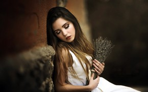Обои девушка, цветы, Laulights