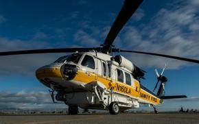 Обои Sikorsky, S-70A, транспортный вертолет
