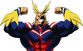 Обои anime, super hero, My Hero Academia, hero, Toshinori Yagi, All Might, powerful, Boku no Hero ...