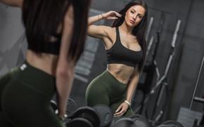 Картинка girl, model, mirror, fitness, helen