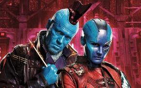 Картинка cinema, weapon, alien, blue, Nebula, movie, film, arrow, Guardians of the Galaxy, Michael Rooker, Guardians …