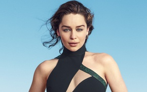 Картинка girl, green eyes, woman, Emilia Clarke