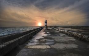 Картинка маяк, море, природа