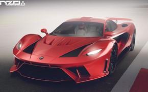Картинка асфальт, автомобиль, Poison car concept