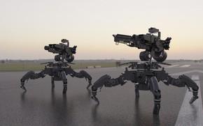 Картинка оружие, роботы, полигон, испытания, Multifunctional platform Anubis