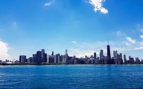 Картинка город, небоскребы, Чикаго, Мичиган, usa, chicago, Иллиноис
