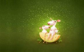 Картинка веточка, праздник, бокал, новый год, сыр, арт, пара, бусы, ёлочка, мышки, детская, карамелька