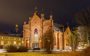 Картинка церковь, Финляндия, Тампере, Tampere, Pirkanmaa, Tampella, Finlayson church