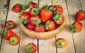 Картинка клубника, ягода, миска, спелая, вкусная