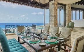 Картинка вилла, терраса, столовая, British Virgin Islands, luxury villa Brise De Mer