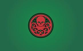 Картинка green, skull, red, fon, Marvel Comics, tentacles, Hail Hydra