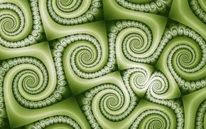 Картинка текстура, зелёный цвет, завитки