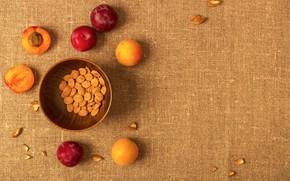 Картинка абрикос, орешки, слива