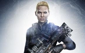 Картинка girl, gun, game, soldier, weapon, sniper, blonde, rifle, Sniper: Ghost Warrior 3, Ghost Warrior, Sniper ...