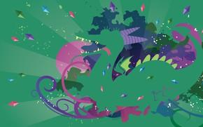 Картинка язык, фиолетовый, зеленый, грязный, розовый, дракон, темный, крылья, зубы, лапы, шипы, хвост, пони, рога, кристаллы, …