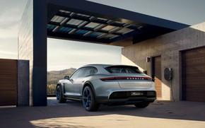 Картинка Concept, Porsche, вид сзади, 2018, Mission E, Cross Turismo