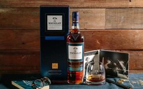 Картинка фото, бокал, бутылка, очки, алкоголь, шотландский виски