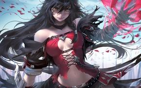 Картинка девушка, магия, пиратка, длинные волосы, anime, art, Tales Of Berseria