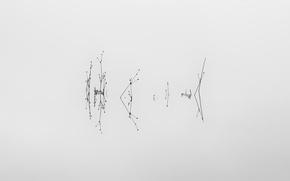 Картинка вода, озеро, минимализм